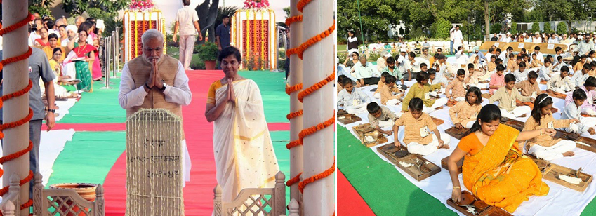 145th Birth Anniversary of Mahatma Gandhi at Gandhi Smriti