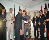 Senior officials of SAARC countries lighting the lamp at the inaugural function on the eve of the 3rd SAARC Culture Ministers Meeting at The Ashok hotel in Delhi today
