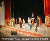 5-Performance by WZCC Folk group in Almaty on 10-10-2016