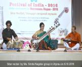 6-Sitar recital by Ms. Smita Nagdev group in Atyrau on 8.10.2016