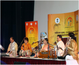 Dr Soma Ghosh and group performing semi classical music in Muscat
