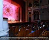 Audience appreciating the performance of Ms. Smita Nagdev and Group held at the National Opera and Ballet Theater, Bishkek on 10 October 2016. The performance was scintillating and was very well received.