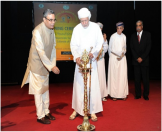 Minister Responsible for Foreign Affairs of Oman H.E Yousuf bin Alawi bin Abdullah lit the ceremonial lamp