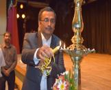 Mr. R Ravindra, Acting Deputy High Commissioner, HCI, Colombo lighting the traditional oil lamp