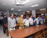 On the occasion of Vigilance Awareness Week, 2018 Secretary (Culture) administered Integrity Pledge to officers of the Ministry regarding ' Eradicate Corruption – Build a New India on 29.10.2018.